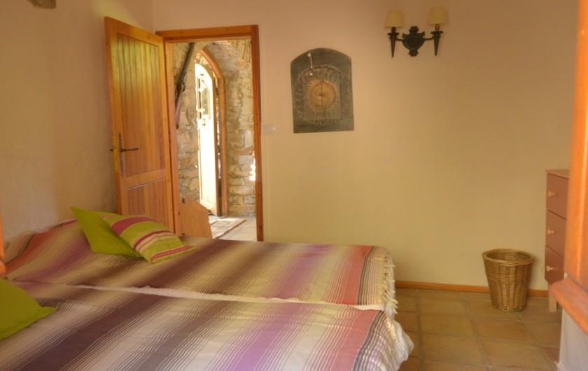 Location de vacances - Mas à Mourèze - Chambre 3 - maintenant 1 lit double
