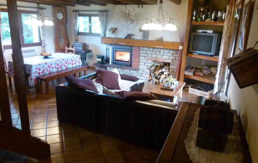 Location de vacances - Chalet à Picherande - Salle à manger salon