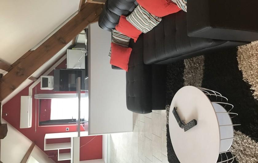 Location de vacances - Appartement à Rouvray - SALON + COIN CUISINE