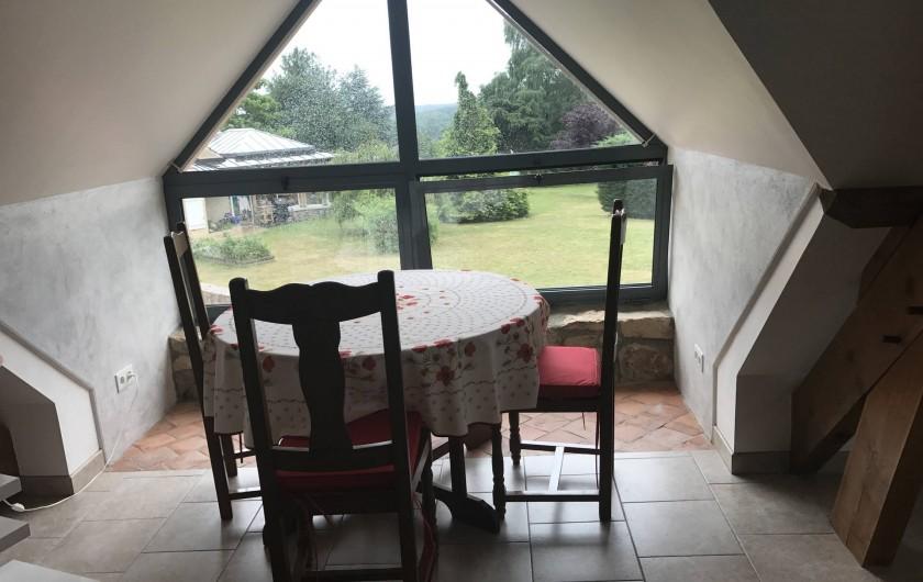 Location de vacances - Appartement à Rouvray - COIN REPAS AVEC VUE DEGAGEE