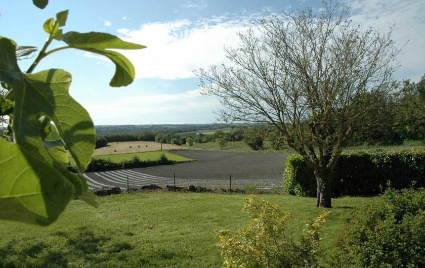 Location de vacances - Maison - Villa à Lauzerte - belle vue de la terrasse