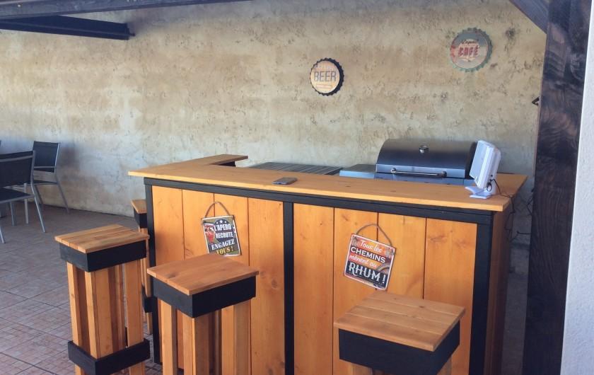 Location de vacances - Villa à Nantille - Coin Bar à l'abri du soleil