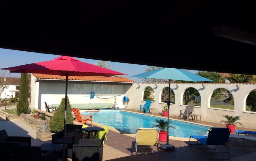Location de vacances - Villa à Nantille - vue globale piscine
