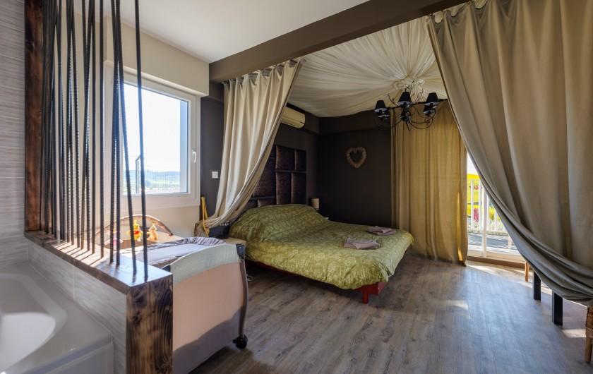 Location de vacances - Villa à Conilhac-Corbières - CHANBRE GRISE