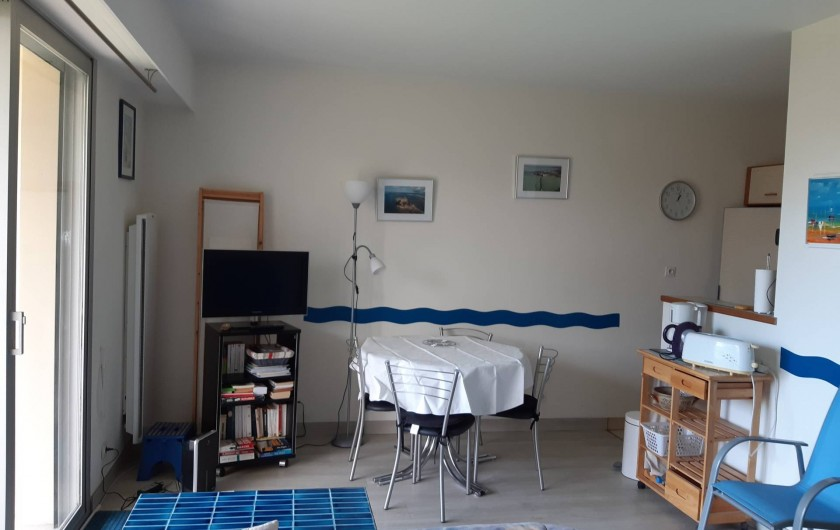 Location de vacances - Studio à Dinard - zone salon salle à manger
