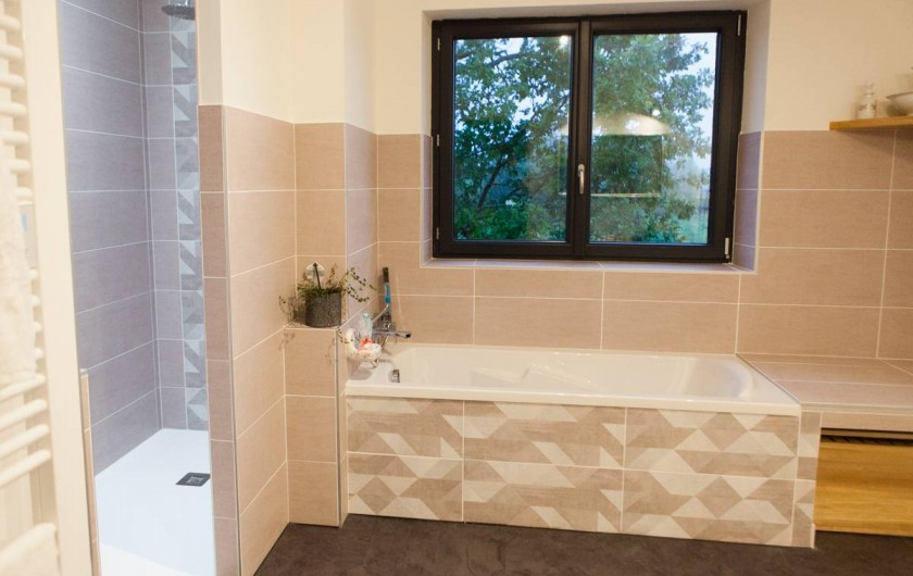 Location de vacances - Gîte à Saint-Antonin-Noble-Val - avec grande douche et baignoire