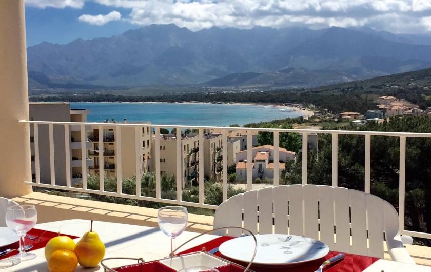 Location de vacances - Appartement à Calvi - Terrasse