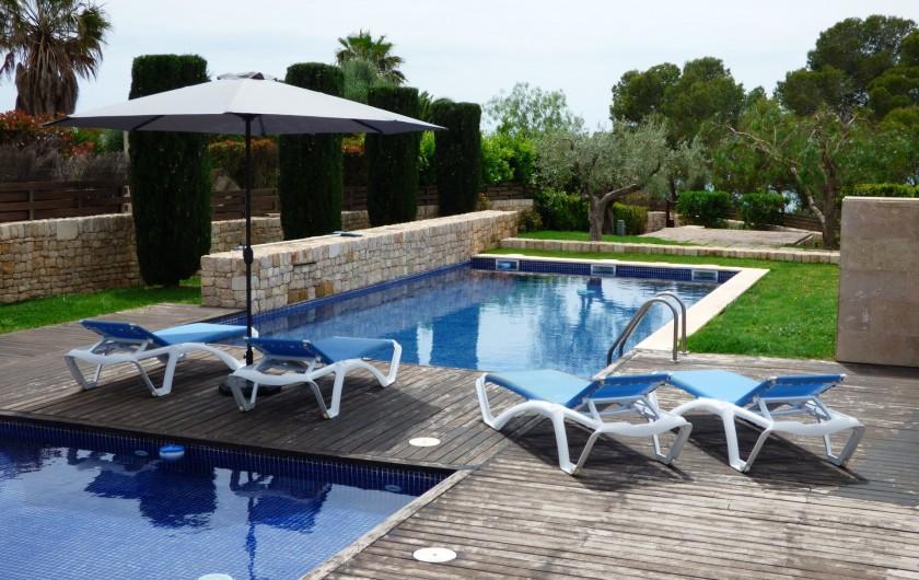 Location de vacances - Villa à El Perelló - TERRASSE VUE PISCINE