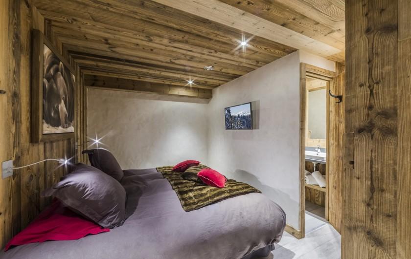 Location de vacances - Chalet à Sainte-Foy-Tarentaise - Le Refuge - Chambre quadruple ( sans fenêtre )