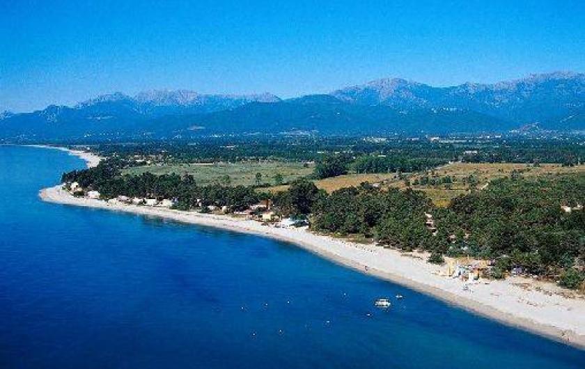 Location de vacances - Bungalow - Mobilhome à Ghisonaccia - Plages Pinia & Vignale  Vue aérienne
