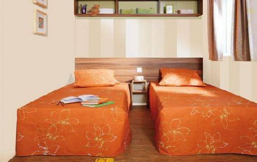 Location de vacances - Bungalow - Mobilhome à Ghisonaccia - 2 chambres petits lits