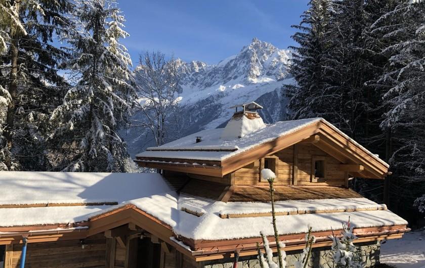 Location de vacances - Chalet à Chamonix-Mont-Blanc - Le chablegy vue arrière