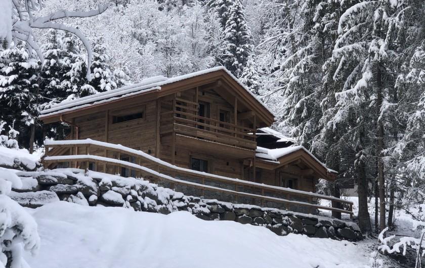 Location de vacances - Chalet à Chamonix-Mont-Blanc - LE CHABLEGY de face