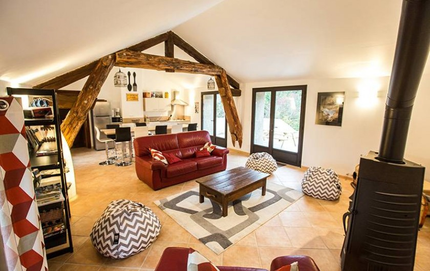 Location de vacances - Gîte à Castanet-le-Haut - Séjour - cuisine 50 m²