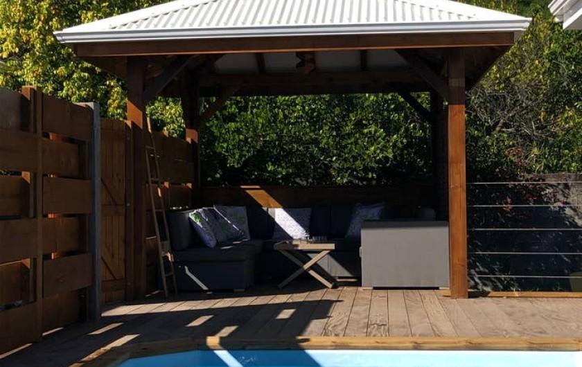 Location de vacances - Villa à Bouillante - SALON EXTERIEUR