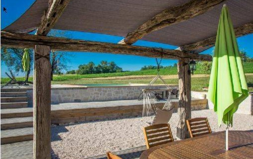 Location de vacances - Villa à Berdoues - Terrasse, côté piscine