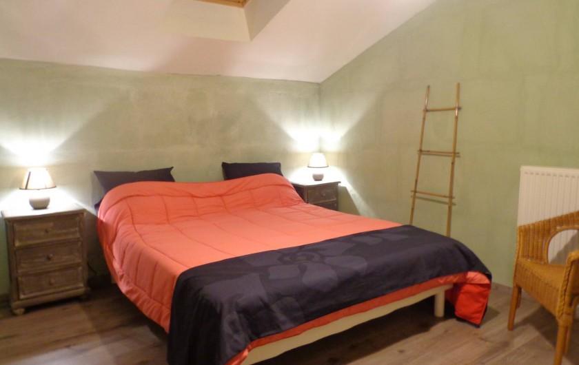 Location de vacances - Villa à Berdoues - Chambre verte, étage