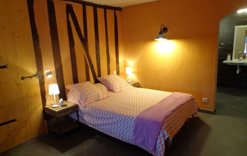 Location de vacances - Villa à Berdoues - Chambre RDC, avec salle de bain