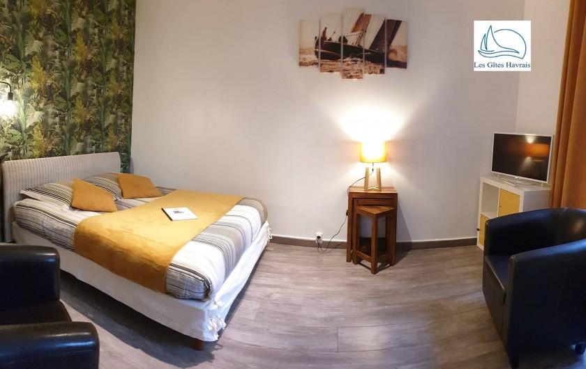 Location de vacances - Appartement à Le Havre - Chambre-salon