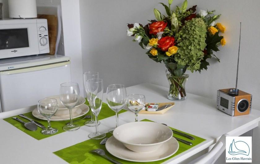 Location de vacances - Appartement à Le Havre - Coin repas