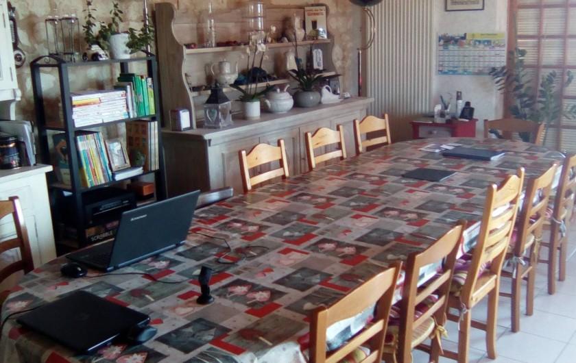 Location de vacances - Chambre d'hôtes à Beaumont - Table du petit déjeuner