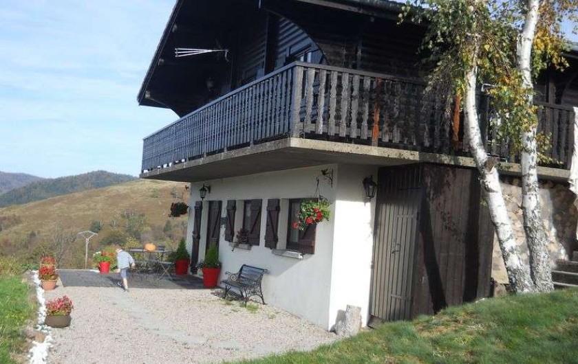 Location de vacances - Chalet à Bussang - Le Chalet - Vue