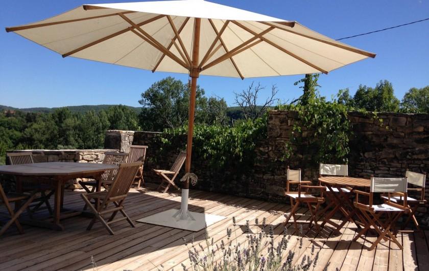 Location de vacances - Maison - Villa à Calvignac - La terrasse