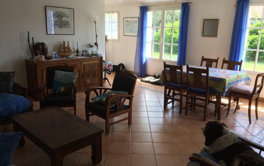 Location de vacances - Maison - Villa à Île-d'Aix - salon salle à manger