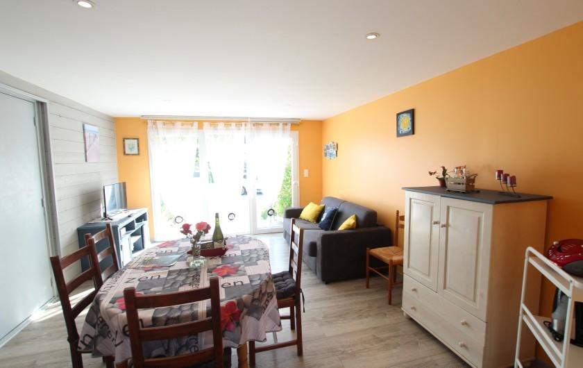 Location de vacances - Appartement à Yvetot-Bocage - SEJOUR  canapé lit télévision