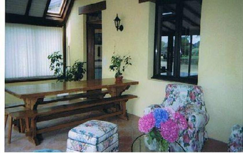 Location de vacances - Gîte à Trédrez-Locquémeau -  le séjour dans la véranda