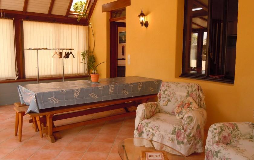 Location de vacances - Gîte à Trédrez-Locquémeau - Séjour dans la véranda