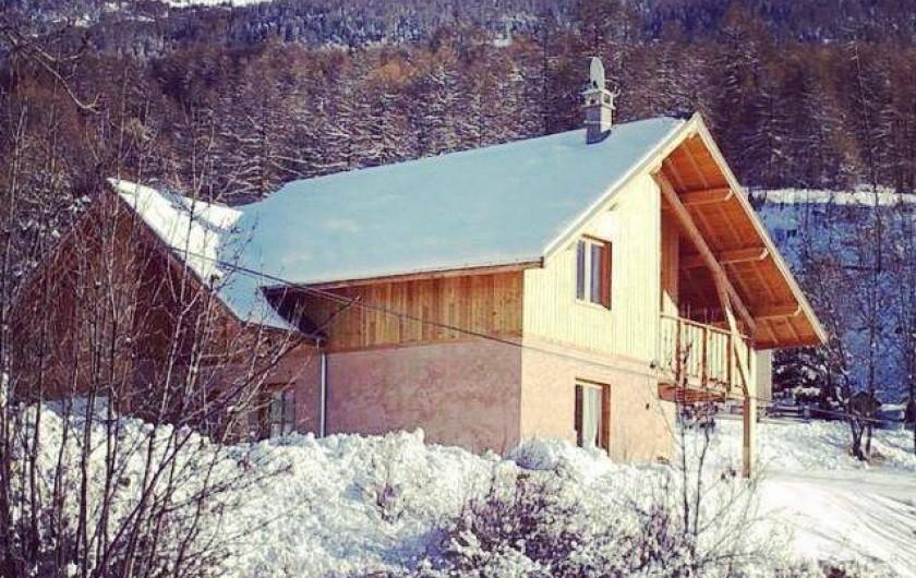 Location de vacances - Chalet à Les Orres - chalet le melezet 500 mètres des pistes . 5 chambres