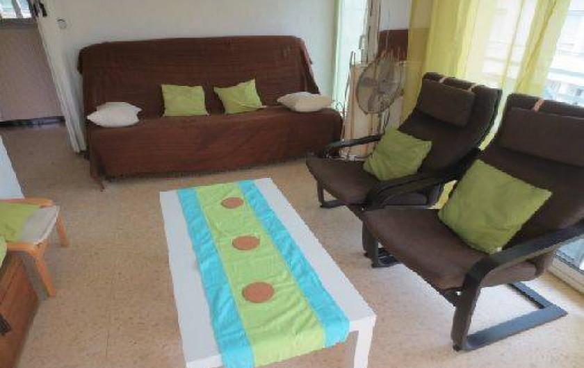 Location de vacances - Appartement à Canet-en-Roussillon - Salon/canape-lit