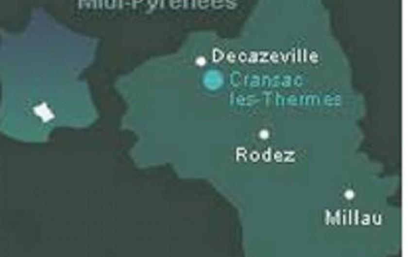 Location de vacances - Appartement à Cransac - Carte de l'Aveyron