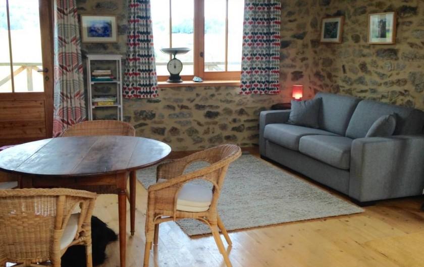 Location de vacances - Gîte à Champagnac-le-Vieux - séjour