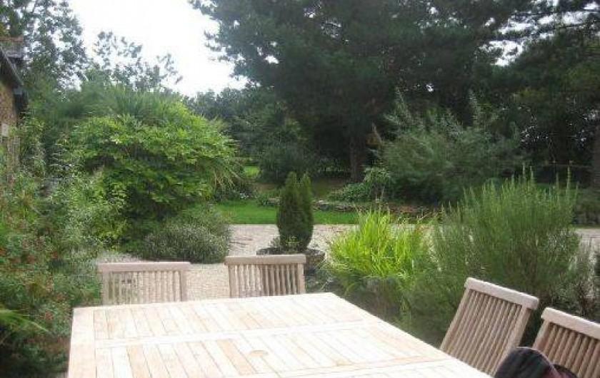 Location de vacances - Gîte à Goudelin - vue de la terrasse