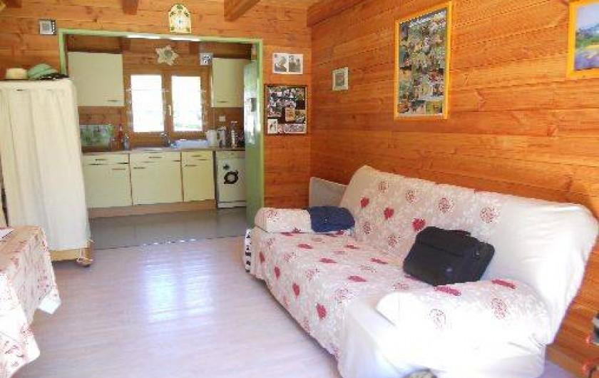 Location de vacances - Chalet à Montclar - Vue sur coin cuisine