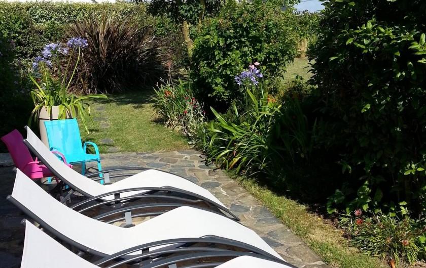 Location de vacances - Villa à Plougoulm - Terrasse coté sud