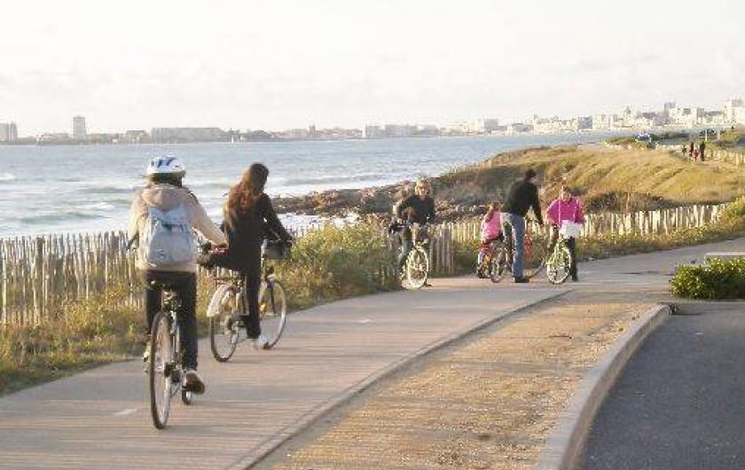 Location de vacances - Villa à Talmont-Saint-Hilaire - piste cyclable sur la côte