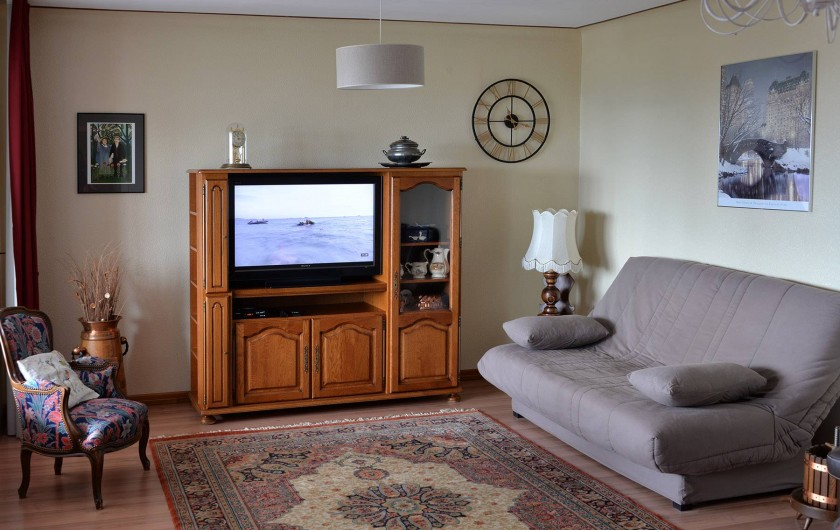 Location de vacances - Appartement à Haegen - salon avec clic clac 140x190