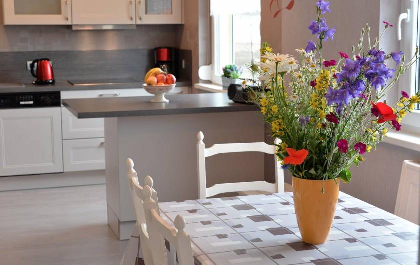 Location de vacances - Appartement à Haegen - séjour vue cuisine