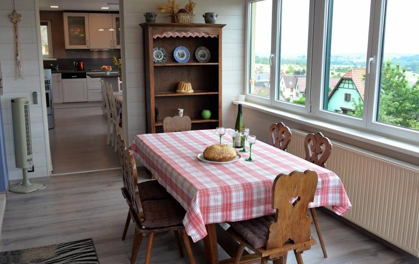 Location de vacances - Appartement à Haegen - véranda fermée et chauffée