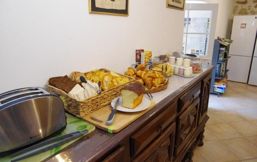 Location de vacances - Chambre d'hôtes à La Madeleine - Petit déjeuner