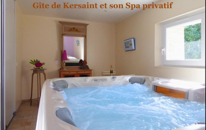 Location de vacances - Gîte à Saint-Igeaux - spa privatif dans local