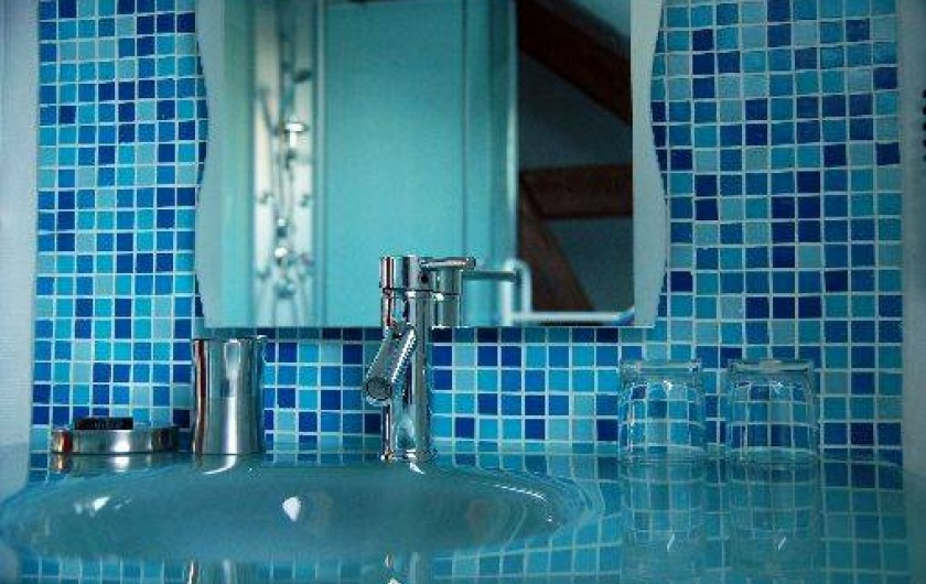 Location de vacances - Chambre d'hôtes à Champignelles - Salle de bain  en émaux de Briare