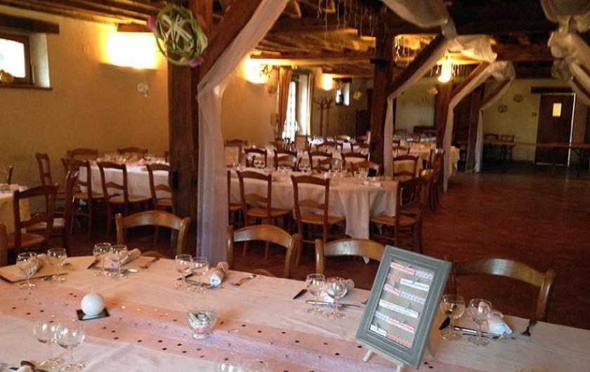 Location de vacances - Chambre d'hôtes à Champignelles - Tables pour un Mariage