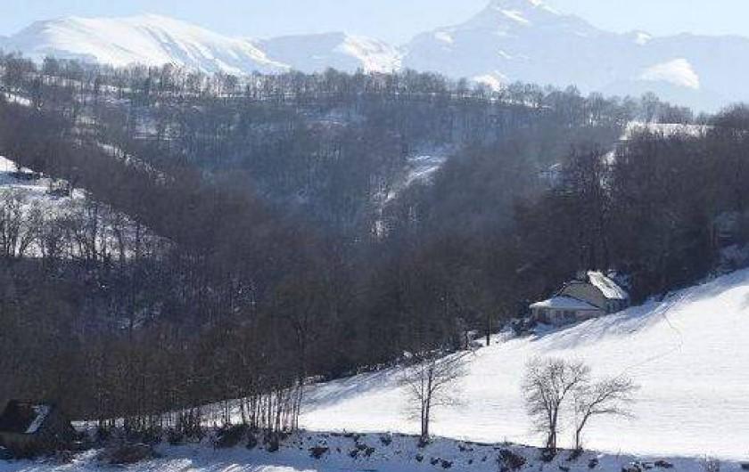Location de vacances - Maison - Villa à Astugue - Le pic du Montaigu sous la neige
