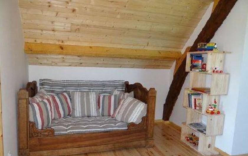 Location de vacances - Maison - Villa à Astugue - Canapé dans la mezzanine