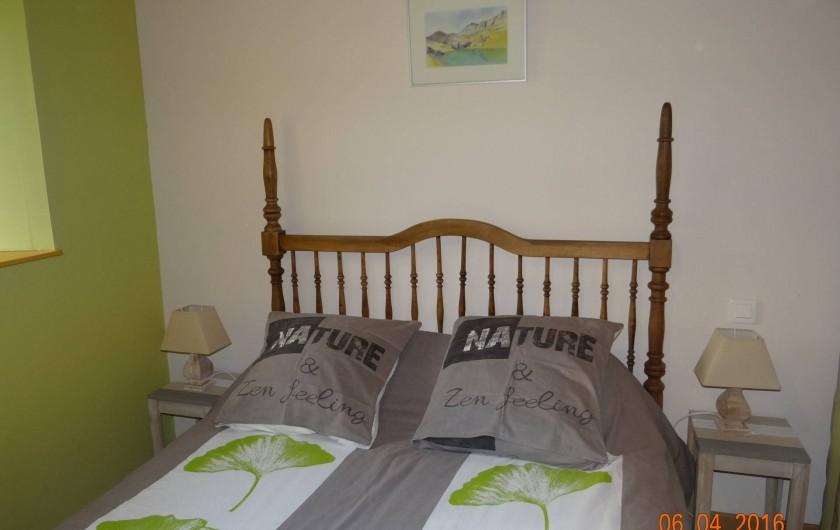 Location de vacances - Maison - Villa à Astugue - Chambre rez de chausser lit 140