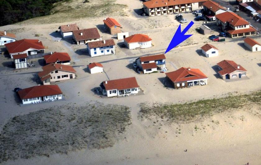 Location de vacances - Villa à Vielle-Saint-Girons - Implantation décalée de la villa en 2ème ligne